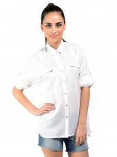 White Top In Cotton Fabric