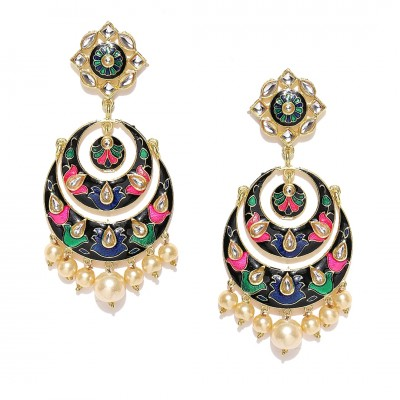 Colorful Plated Handcrafted Earrings