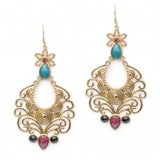 Beautiful Floral Pattern Danglers
