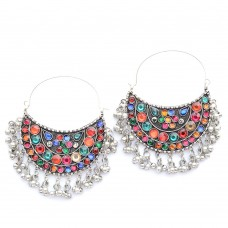 Beautiful Designer Hoop Earrings For Women In Multicolor