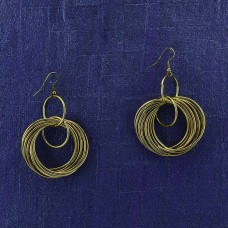 Multiple Circular Rounded Earring In Golden Color