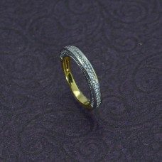 Gold Plated Band Ring In AD Stone