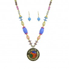 Antique Multicolor Pendant Set For Women