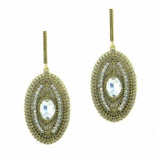 Designer Gold Plated Stone Studded Earrings