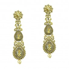 Designer Multiple Shinny Stone Studded Dangler Earrings