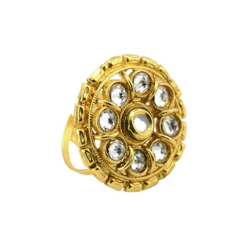 Gold Plated Studded Ring