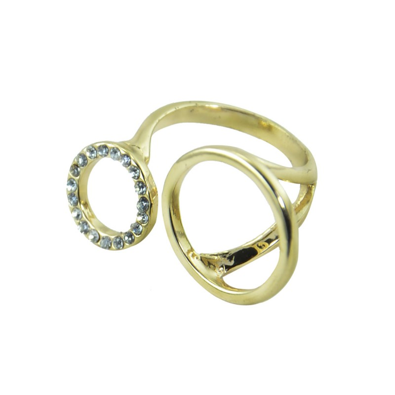 Designer Gold Plated Stone Studded Ring