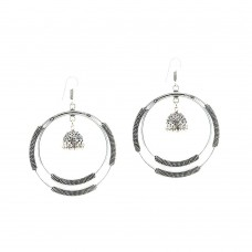 Silver Plated Dangler With Drop Jhumki