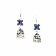 Beautiful Designer Drop Dangler With Blue Beads