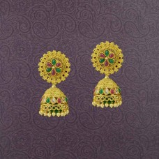 Gold Plated Multiple  Kundan  Jhumki Earring