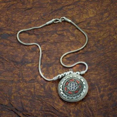Antique Siver Plated Chain Pendant