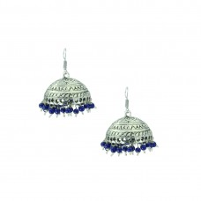 Designer Earring With Multiple Blue Pearls
