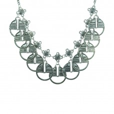 Silver Plated Neckpiece For Women