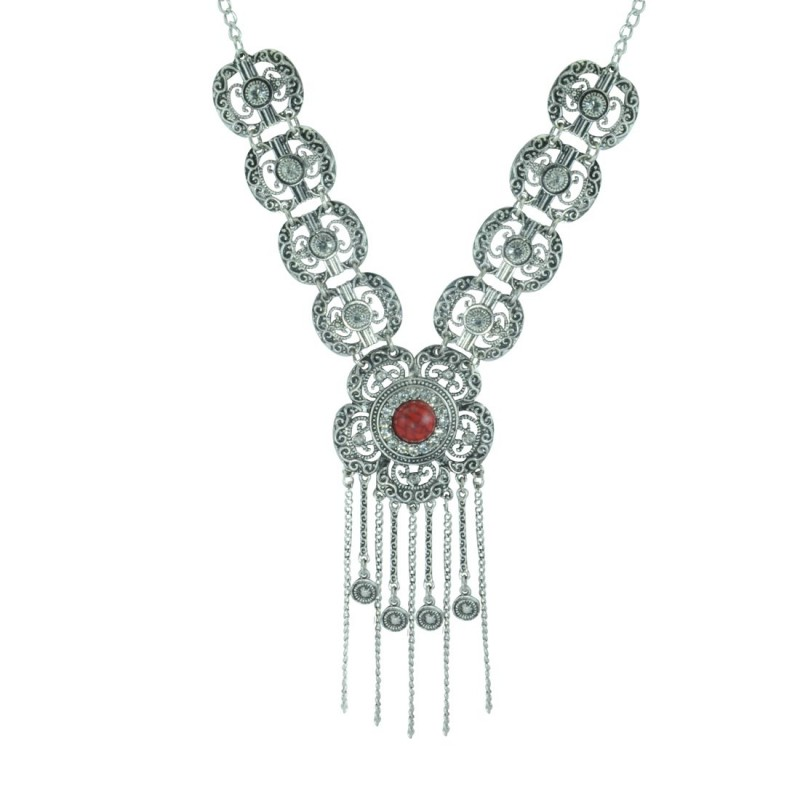 Silver Plated Neckpiece For Women's