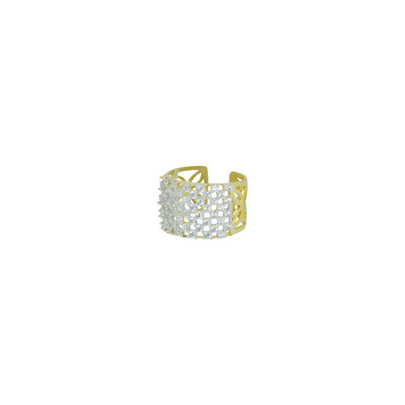 Designer Gold plated AD Studded Cluster Ring