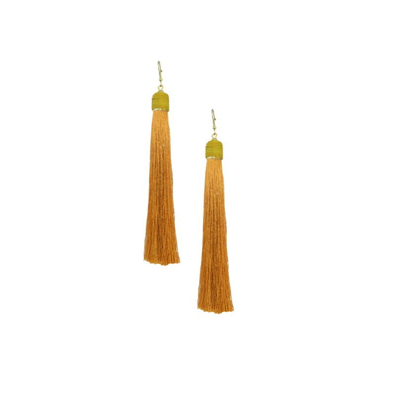 Stunning Thread Dangler In Orange Color