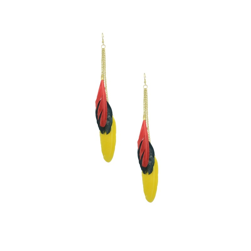 Gorgeous Multicolor Feather Earrings For Women