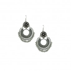 Silver Chandbalis In Black Color For Women