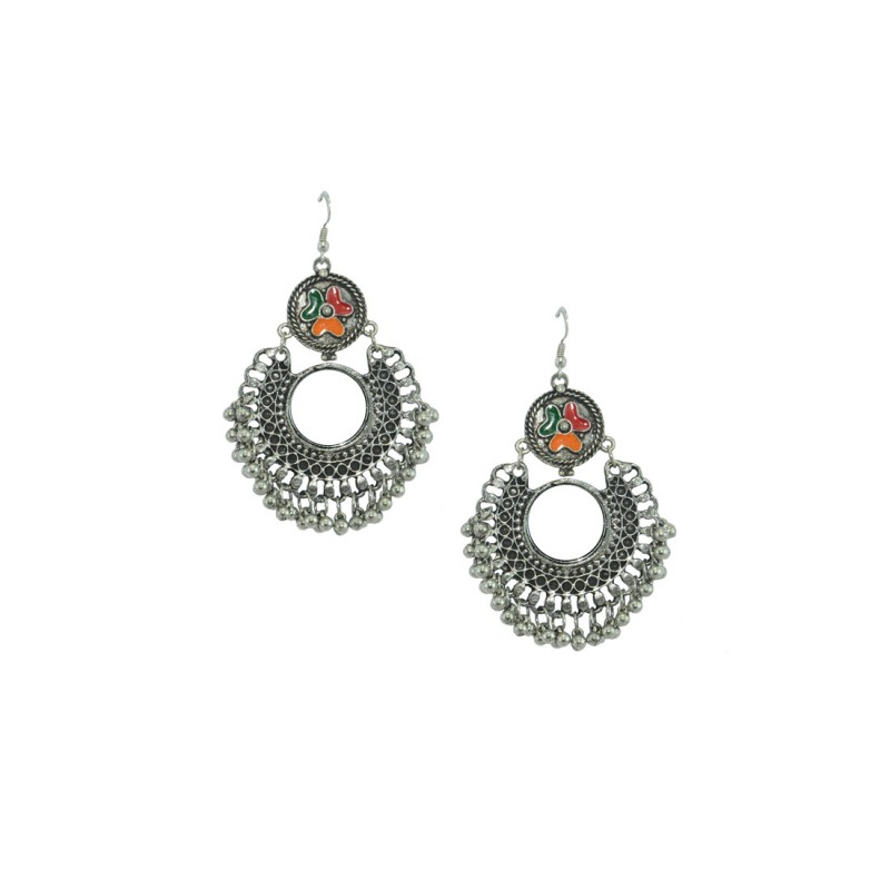 Silver Chandbalis In  Multicolor For Women