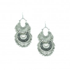 Oxidized Double Chandbalis Earrings