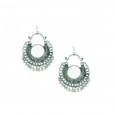 Oxidized Chandbali With Multiple Jhumki