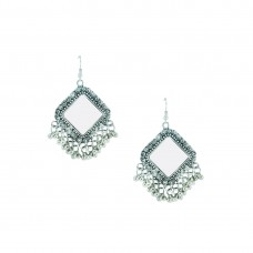 Designer Silver Plated Dangler Earring