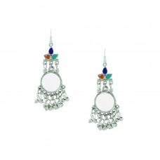 Designer Dangler Earring In Silver Color