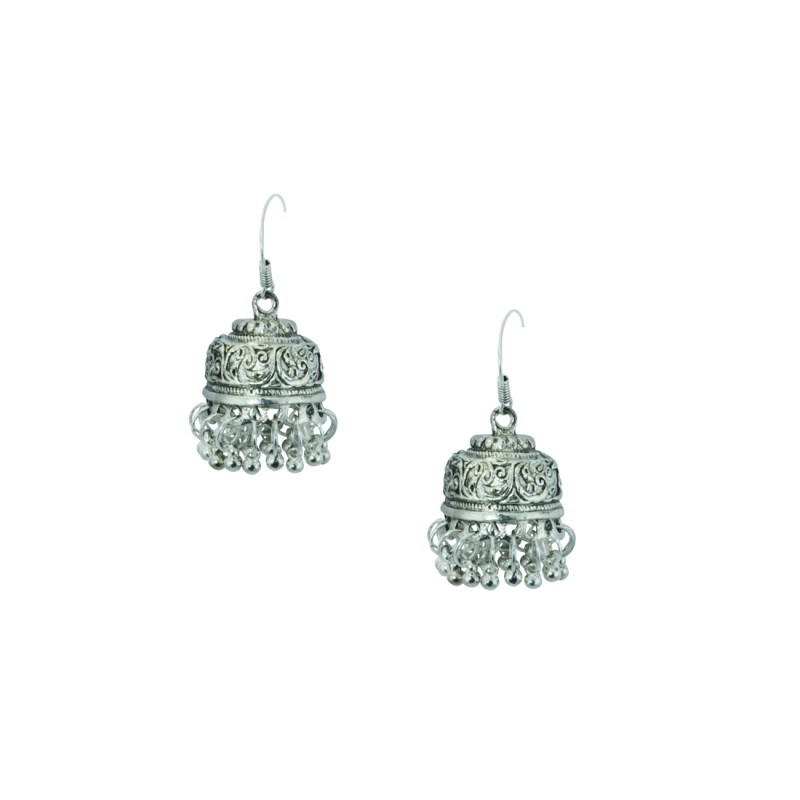 Silver Plated Jhumki Earring
