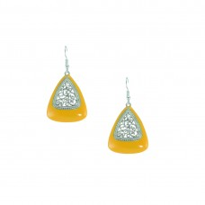 Silver Plated Dangler In Yellow Color