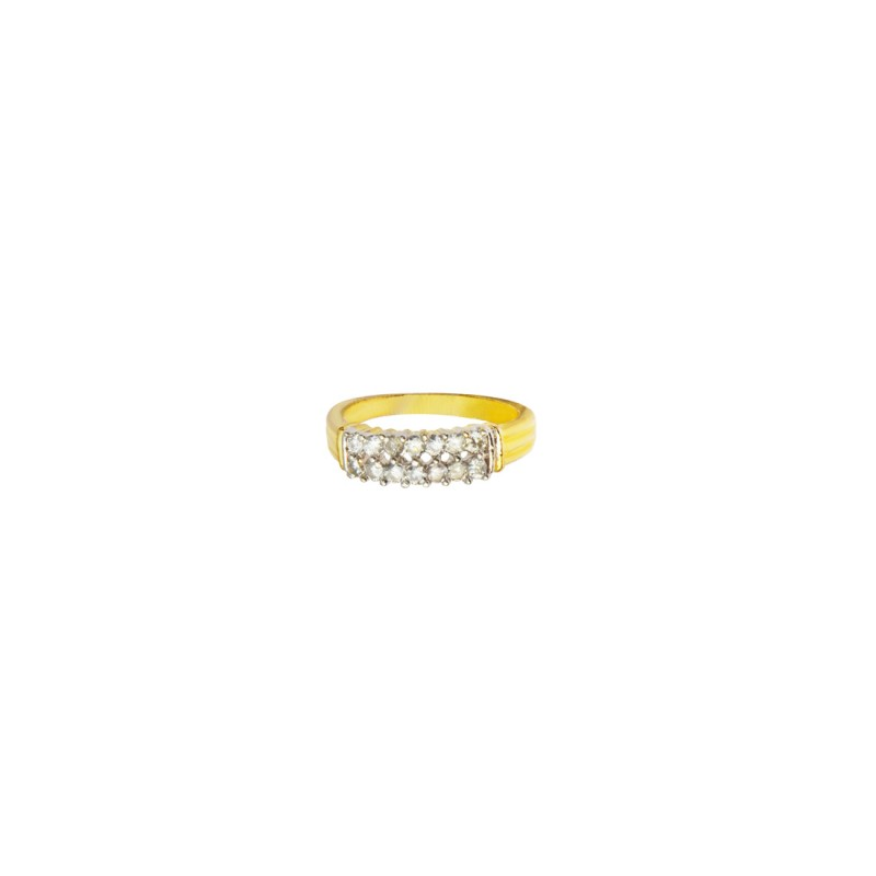Gold Plated AD Studded Ring By Shipgig