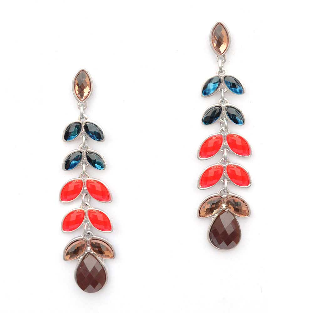 Multicoloured Studded Earrings